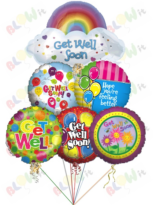 Get Well Soon Balloon Bouquets In Toronto From Blowit Ca